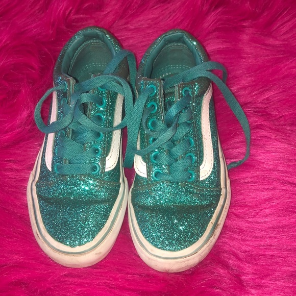 great variety models new lower prices top-rated fashion Teal blue girls Vans sneakers